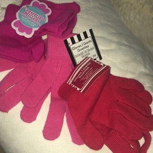 Girls Mitten Gloves Bundle